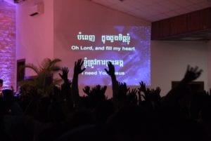 Worship at GLS in Cambodia